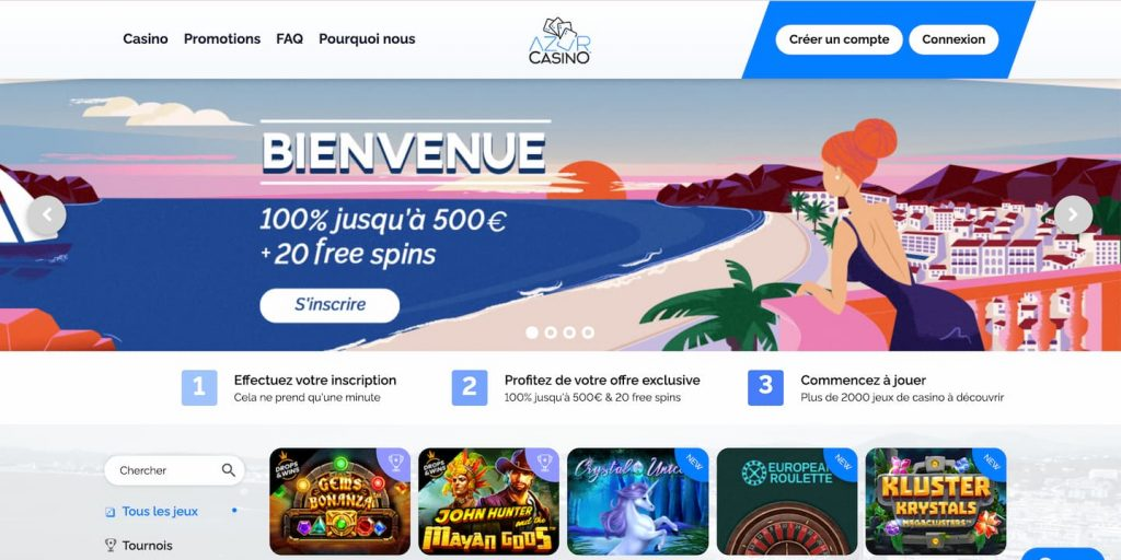 azur casino avis interface