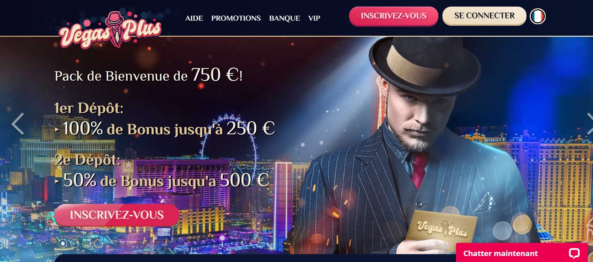 vegasplus interface daccueil